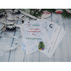 Countdown To Christmas Snowflakes Inserts