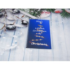 Countdown To Christmas Blue Tree Planner