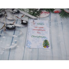 Countdown To Christmas Snowflakes Planner